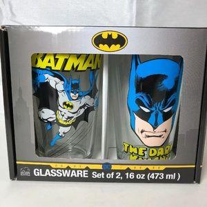 Batman Glassware 16oz Pint Set